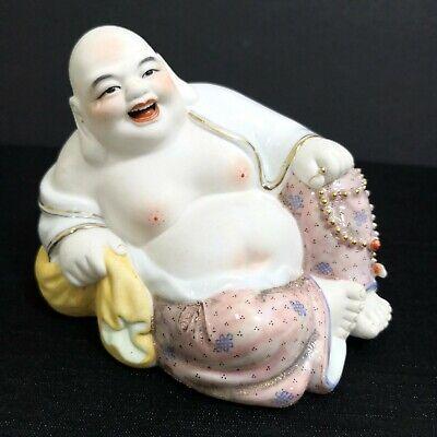 Old Porcelain Laughing Buddha 旧粉彩弥勒佛瓷雕塑