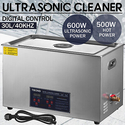 30l Liter Ultrasonic Cleaner Stainless Steel Industry Heated Heater Wtimer