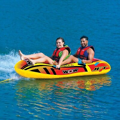 WOW Watersports Jet Boat 1-2 Rider Inflatable Water Tube Boa