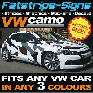 vw volkswagen full car camo kit vinyl graphics stickers decals bonnet roof golf ebay. Black Bedroom Furniture Sets. Home Design Ideas