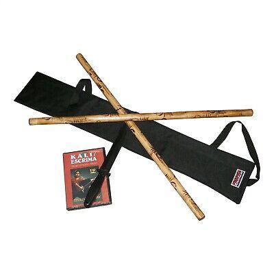 Complete Escrima Kali Arnis Rattan Stick Set $85 Value! Weapons Case Knife DVD