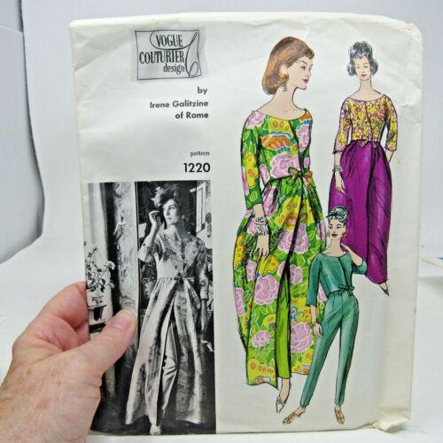 Vintage Pattern Vogue Couturier Design # 1220 Galitzine SZ 14 Bust 34 FF/Complet