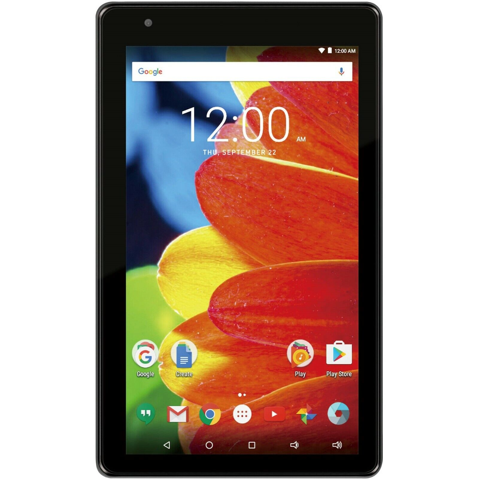 """RCA Voyager 7"""" Tablet Black   Android OS 16GB   RCT6873W42"""