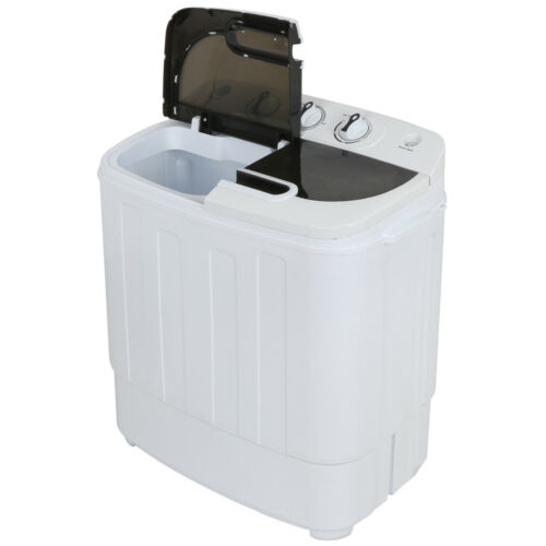 Compact Portable Washer & Dryer with Mini Washing Machine and Spin Dryer, White Home & Garden
