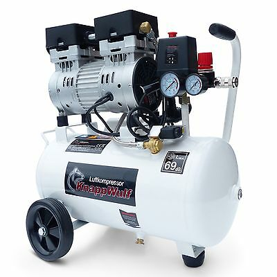 Flüster Kompressor Luftkompressor Leise Silent Druckluft 24L Kessel 750W 69dB