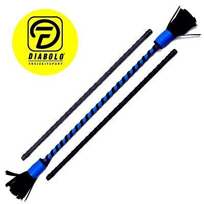 Bravo Flowerstick Basic - Devilsticks-Set mit Tragetasche für Anfänger (blau)