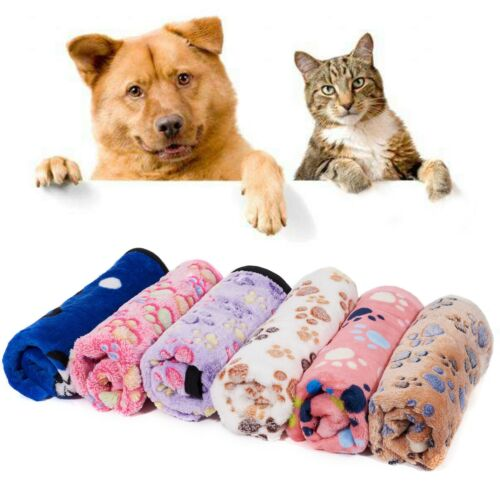 2 Pack Soft Pet Blanket for Dog Cat Warm Puppy Kitten Cushion Bed Mat Pad Cover
