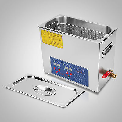 New 6l Ultrasonic Cleaner Stainless Steel Industry Heated Heater Wtimer Ed