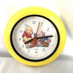 Winnie The Pooh Wall Clock Kids Room Decor Pooh and Piglet  Rare