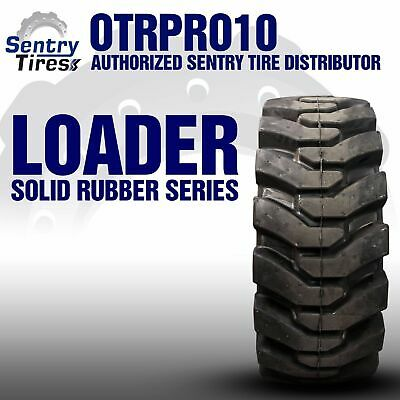 38x14-20 Sentry Tire Solid Loader 4 Tires W Wheels 38-14-20 15x19.5 For Volvo