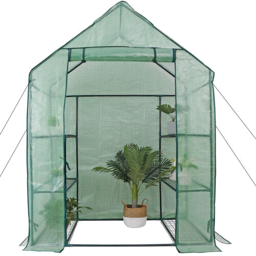 6 Shelves 3 Tiers Greenhouse Portable Mini Walk In Outdoor MINI Planter House Garden Structures & Shade