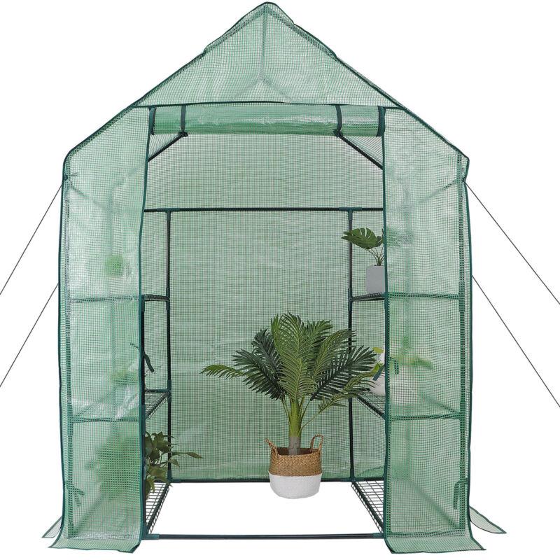 6 Shelves 3 Tiers Greenhouse Portable Mini Walk In Outdoor MINI Planter House