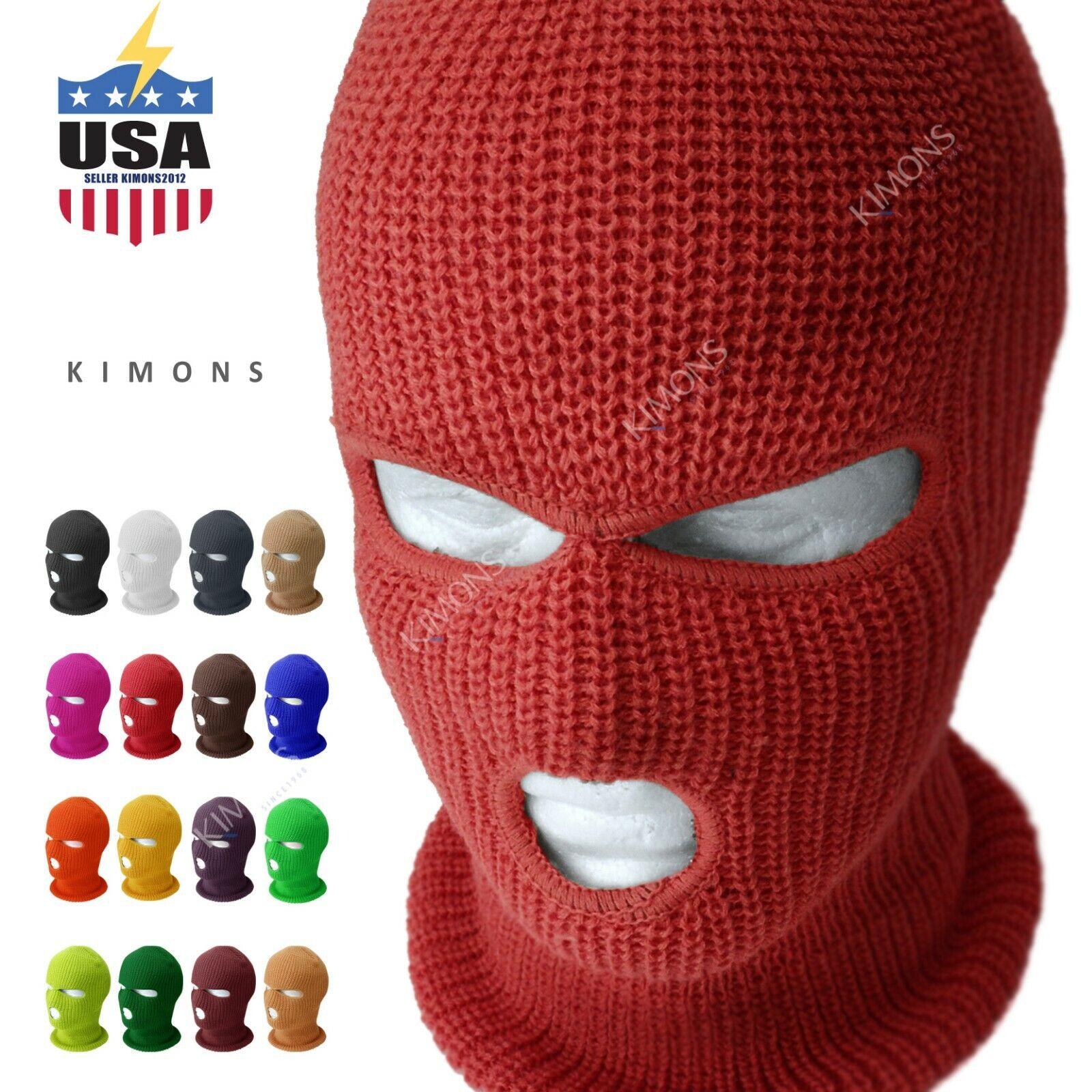 3 Hole Full Face Mask Ski Mask Winter Cap Balaclava Hood Bea