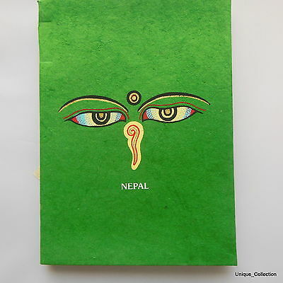 Buddha Eye Nepalese Handmade Natural Colour Lokta Paper Notebook Diary Journal
