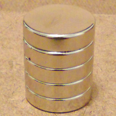 5 N52 Neodymium Cylindrical 1 X 14 Inches Cylinderdisc Magnets.