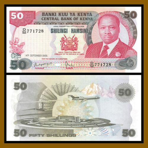 Kenya 50 Shillings, 1986 P-22c Unc