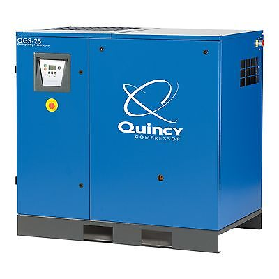 Quincy Rotary Screw Compressor 15 25 30 40 Hp Air End Rebuild Service