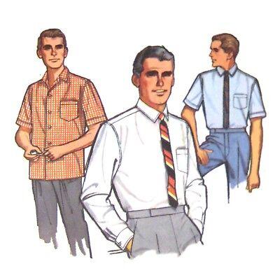 Vtg Simplicity 5689 Mens Proportioned Shirt Short Long Sleeve 16.5N 34-35-36S