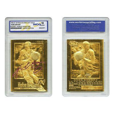 1996-97 KOBE BRYANT EX-2000 Credentials 23K GOLD ROOKIE (Purple) *GEM-MINT -