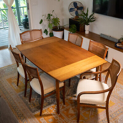 Gorgeous 1961 Barney Flagg Drexel Parallel Dining Room Table + Chairs Eames Era