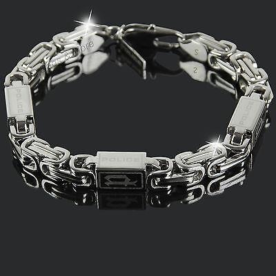 POLICE Armband URBAN Herren Schmuck Edelstahl Armkette Silber PJ24654BSS/01-S