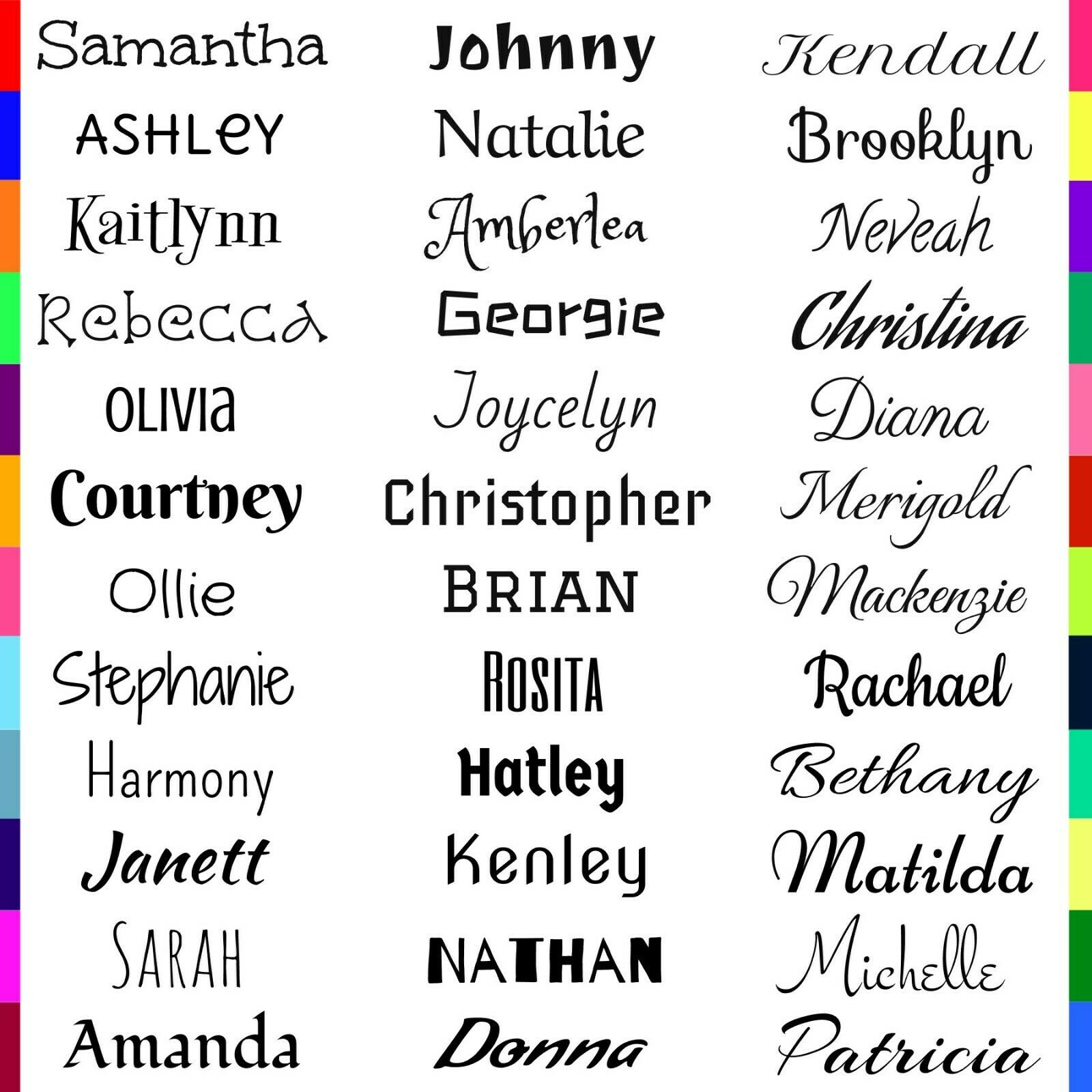 custom personalized name vinyl decal sticker
