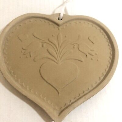 Vintage Brown Bag Cookie Art Mold Heart Love 1986 Hill Design Shortbread Cookies
