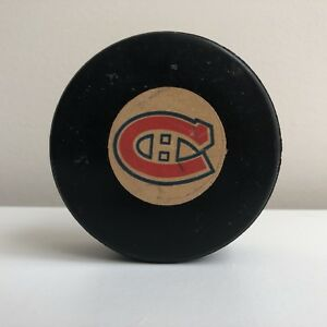VTG Montreal Canadiens Game Used Hockey Puck