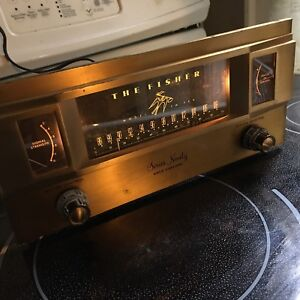 Vintage tube Fisher FM90 X Series Ninety Gold Cascode tuner.