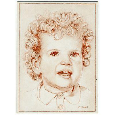 Künstler-AK v. M. Godon / Kinder-Portrait, Junge mit Locken
