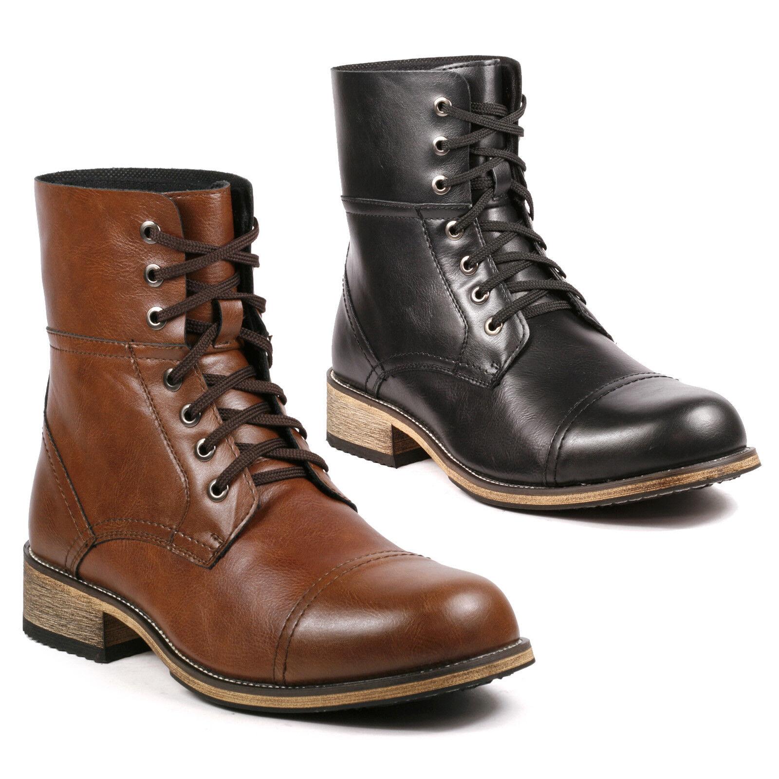 Metrocharm MC001 Men's Lace Up Cap Toe Work Desert Fashion Ankle Boots
