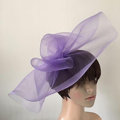 light pale purple lilac fascinator millinery burlesque wedding hat ascot bridal