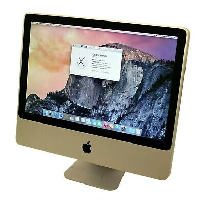 "Apple A1224 IMac 7,1 20"" Core 2 Duo 2.6GHz/8GB DDR3/320GB/OSX 10.10 - B Grade"