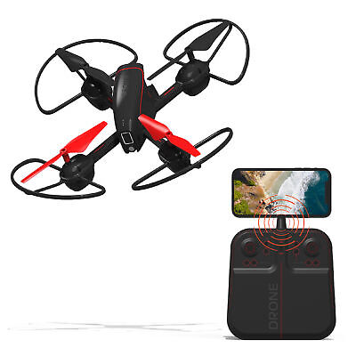 """Sharper Trope 2.4GHz RC Mach 10"""" Drone with Stream Camera, Black - Easy to Fly"""
