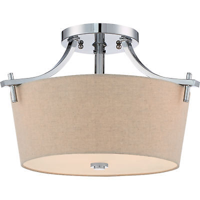 Quiozel Large Semi Flush Mount Ceiling Light Fixture Polished Chrome QX3157S Large Ceiling Fixture