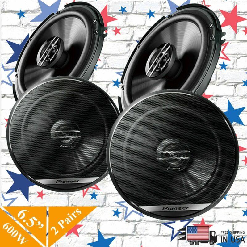 "4x Pioneer TS-G1620F 2-Way 6.5"" Car Speaker 600W 6 1/2 inch replace of TS-G1645"
