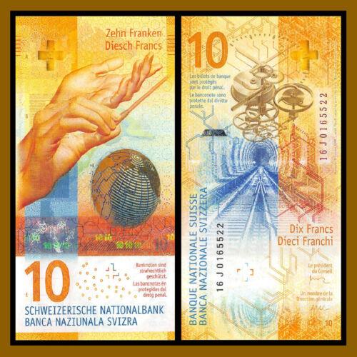 Switzerland 10 Francs, 2016 (2017) P-75 Hybrid Polymer Swiss National Bank Unc