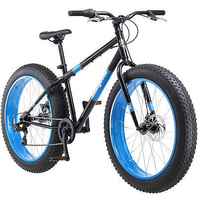 "NEW 26"" Mongoose Dolomite Fat Tire Men's 7-speed Mountain Bike Bicycle Black"