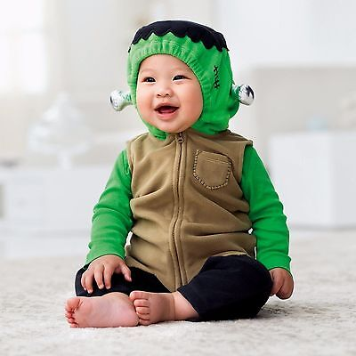 CARTER'S INFANT BABY 3PC MONSTER FRANKENSTEIN HALLOWEEN COSTUME SET OUTFIT 12M - Frankenstein Halloween Costume Baby