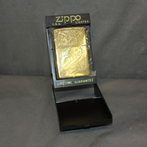 VINTAGE 90s CAMEL ZIPPO LIGHTER 22K Gold Plated