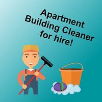 Apartment Building Janitor Non Resident  Cleaner (West Island)