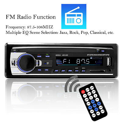 Bluetooth Car Stereo Audio In-Dash FM Aux Input Receiver SD USB MP3 Radio Player 1
