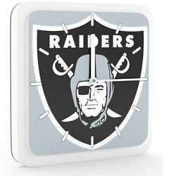 New 3 in 1 NFL Oakland Raiders Home Office Decor Wall Desk Magnet Clock 6