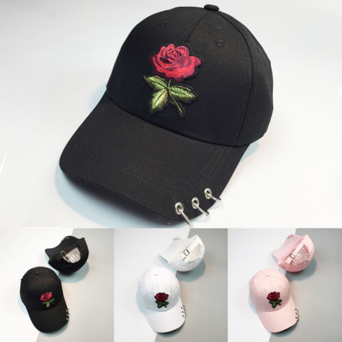 Damen Herren Blumen Basecap Mütze Schirmmütze Baseball Cap Trucker Kappe Hüte