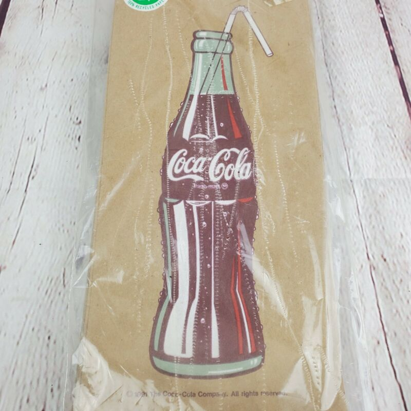 Vintage 1991 Coca Cola Lunch Bags Sacks 25 Count 100% Recycled Paper NEW