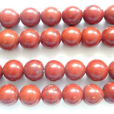 "16"" Gemstone Red Jasper 10mm Round Beads"