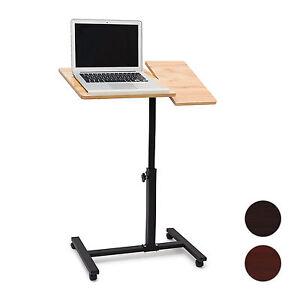 Laptoptisch-hohenverstellbar-mit-Rollen-Sofatisch-fur-Notebook-Laptopwagen-Stahl