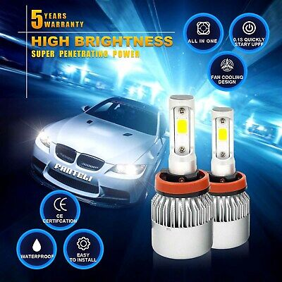 H11 H9 H8 1955W 293250LM  CREE LED Headlight Kit Low Beam 6000K White High Power