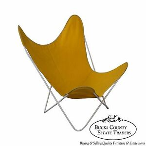 Exceptional Knoll Hardoy Mid Century Modern Iron Frame Butterfly Chair