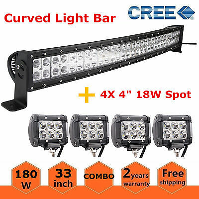 "54/"" 312W Curved Led Light Bar+2xPods Cube+Rocker Wiring For 1999-2015 Ford F350"